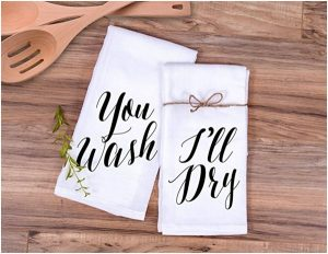 "Kitchen Towel Gift Set ""You Wash, I'll Dry"""
