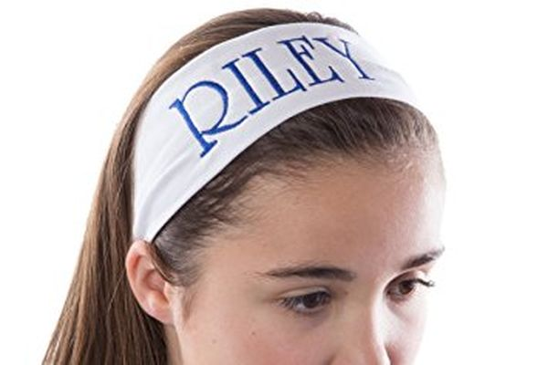Cotton Stretch Headband Embroidered with Your Text