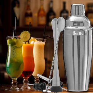 Elite Cocktail Shaker Set Bartender Kit