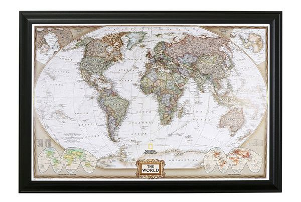 Executive World Push Travel Map