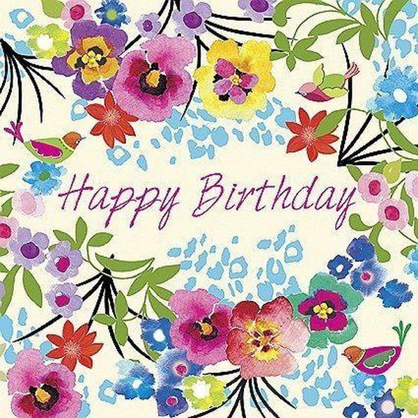Festive Happy Birthday Flower Images for Her 2