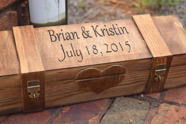 My Personal Memories Personalized Wood Wine Box