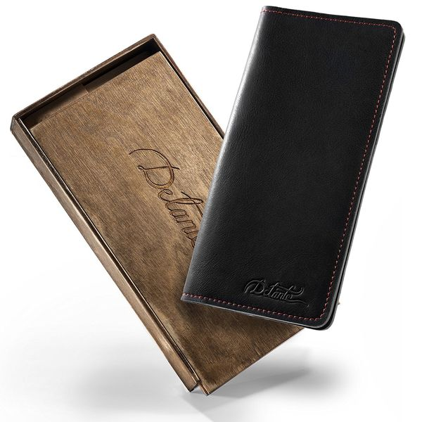 Leather Travel Wallet with Phone Pocket