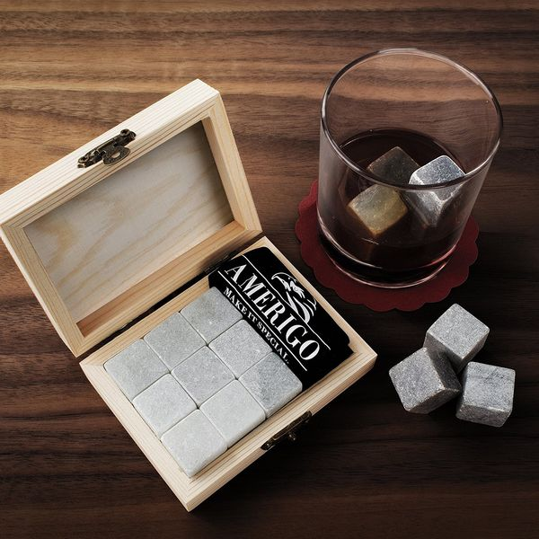 Luxury Whiskey Stones Gift Set by Amerigo