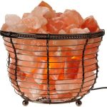 Natural Air Purifying Round Basket Salt Lamp