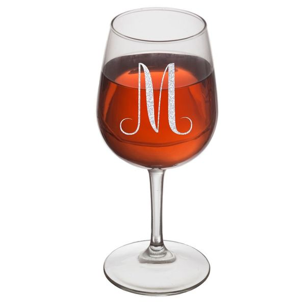 On The Rox Drinks Engraved Wine Glass