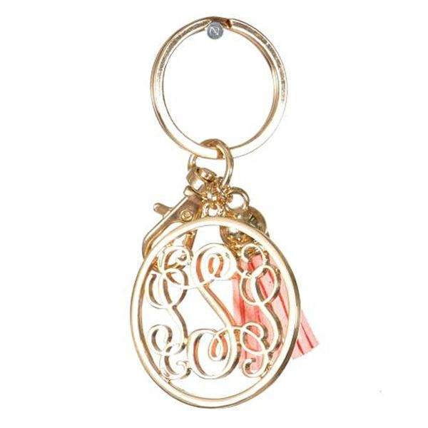 Personalized Monogrammed Alphabet Initial Letter Keychain