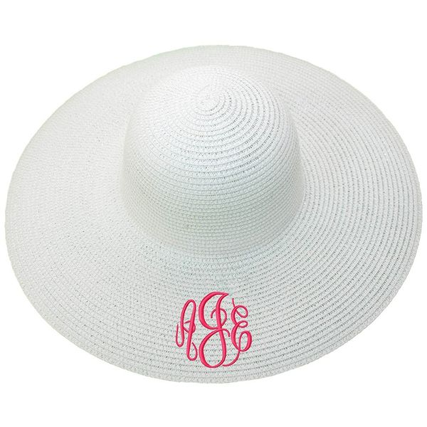 Personalized Wide Brim Floppy Sun Beach Pool Hat
