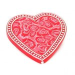 Red Rose Heart Brooch
