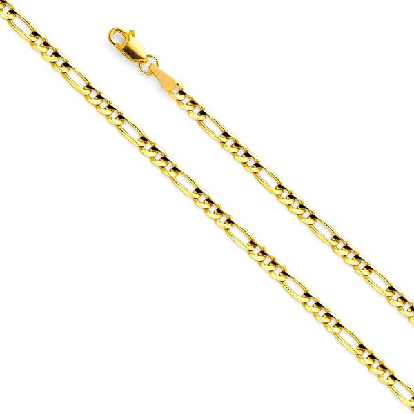 Wellingsale Yellow Gold Chain Necklace
