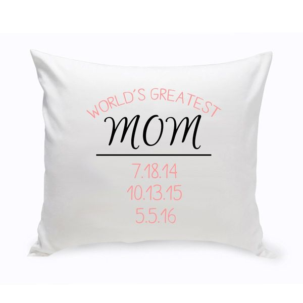 Worlds Greatest Mom Throw Pillow