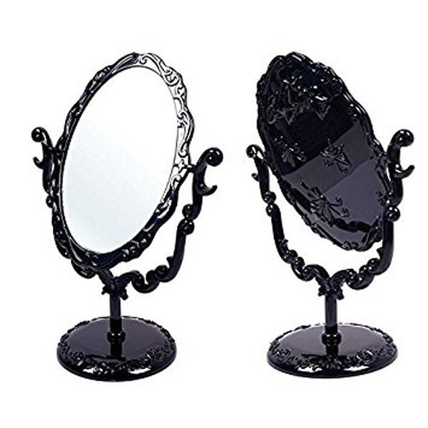 Black Butterfly Desktop Mirror