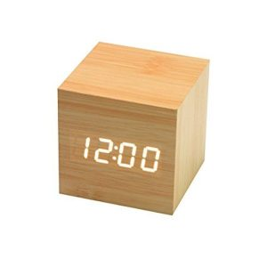 Cube-Shaped Digital Alarm Clock