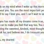 I adore you letter for him