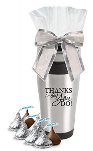Hershey Kisses in Thank You Stainless Tumbler