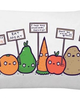 Protesting Vegans Funny Pillowcase
