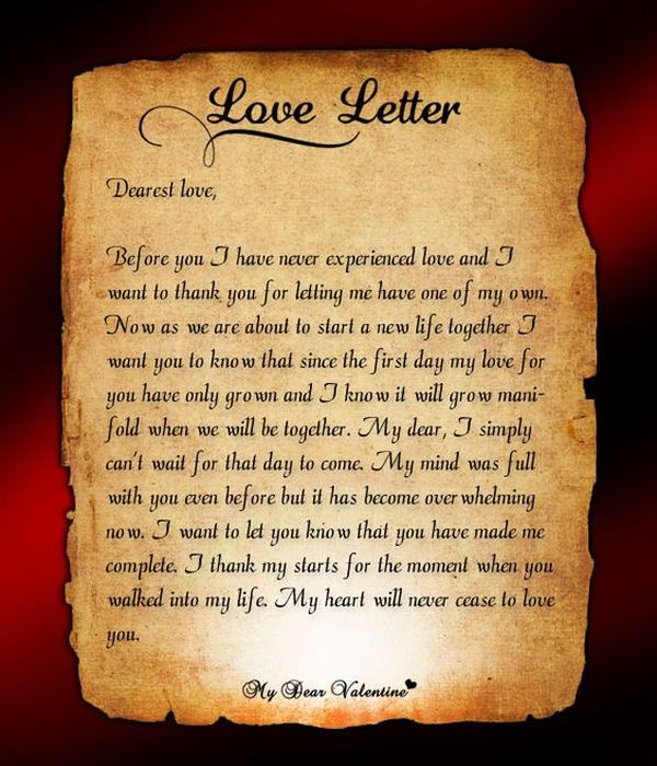 Love Letters For Him Romantic Letters For Men