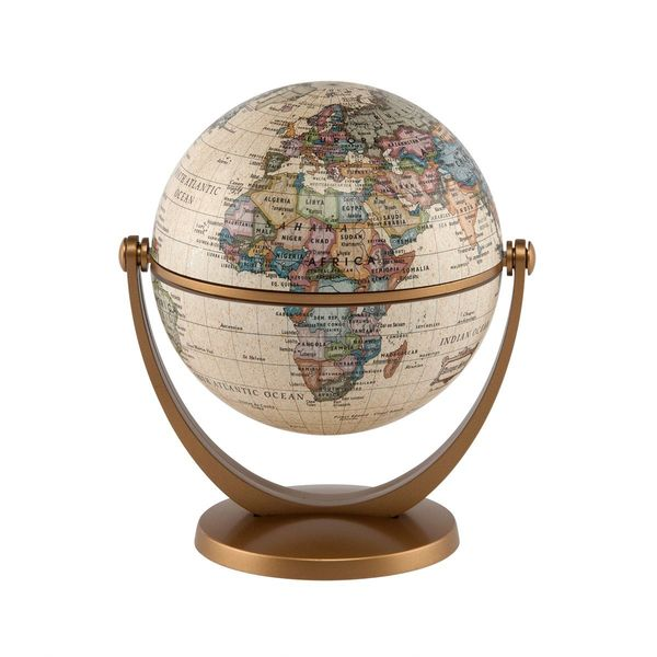 Stella Nova Political Antique Ocean Swivel and Tilt Globe