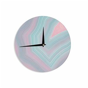 Sweet Pastel Agate Wall Clocks
