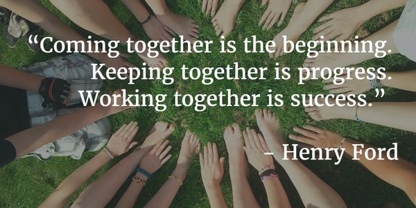 Image result for teamwork quotes for students by henry ford