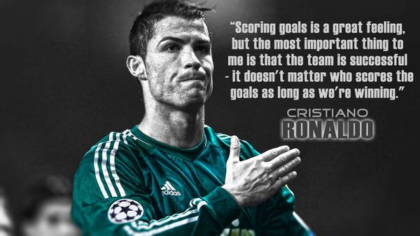 ronaldo teamwork quotes
