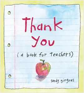 Thank You Book by Sandy Gingras