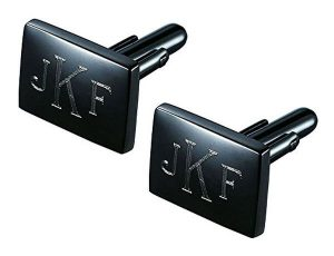 Personalized Gunmetal Cufflinks