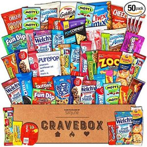 Gift Basket with Bars, Chips, Candies and Cookies