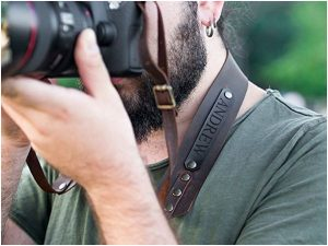 Personalized Leather Camera Strap for Men