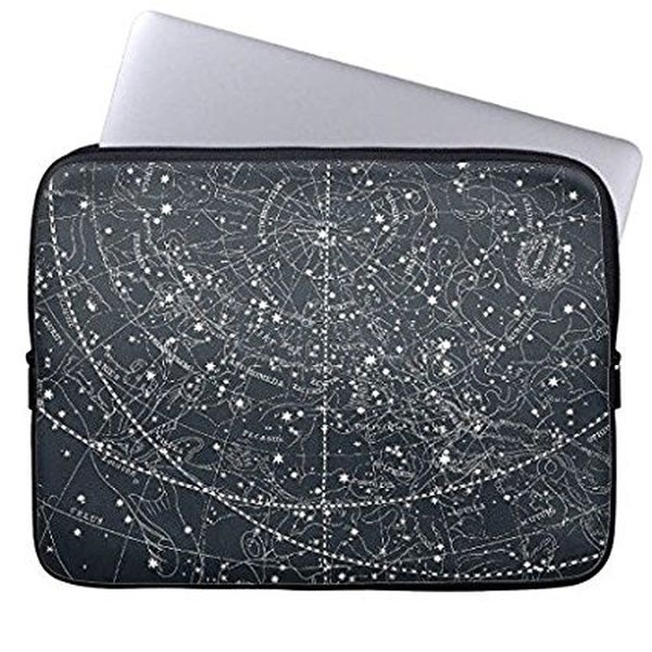 Vintage Neoprene Laptop Sleeve with Constellation Map
