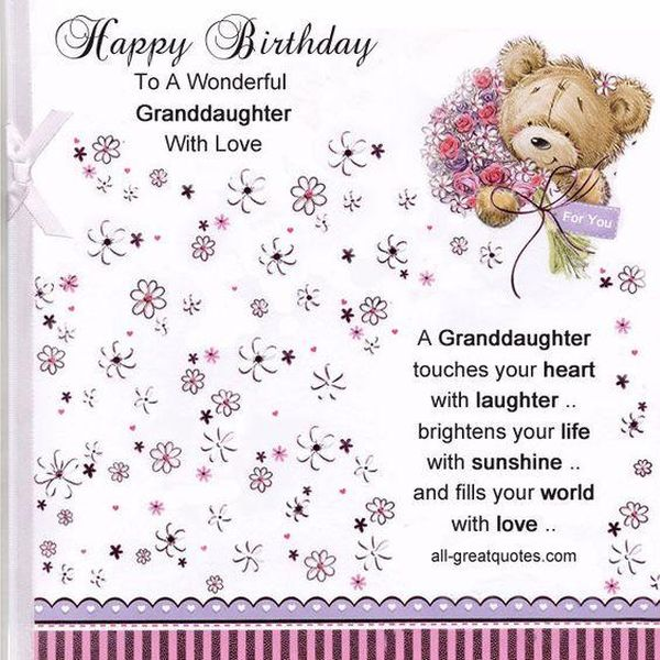 Thoughtful Christian Birthday Greetings For Granddaughter