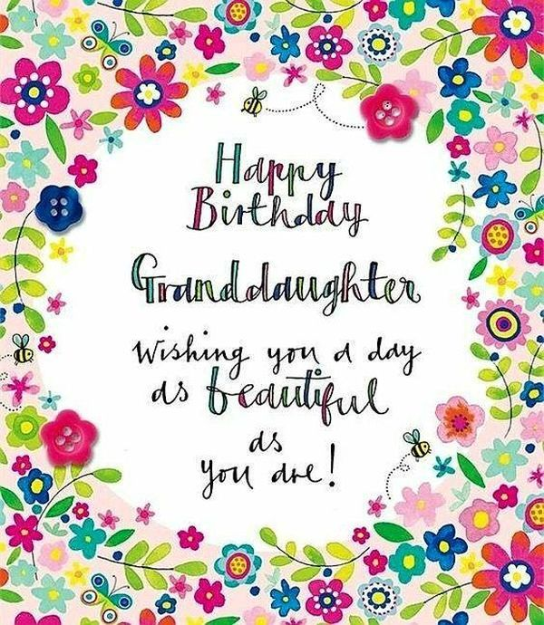 Happy Birthday Granddaughter Quotes And Wishes