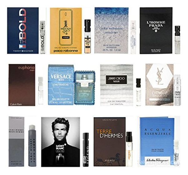 12 Men's Cologne Samples Vials (Tom Ford, Yves Saint Laurent)