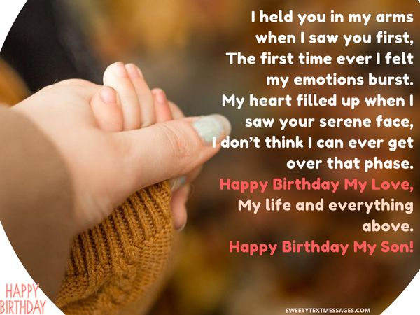 A Mothers Love For Her Son Knows No Borders Show Your Through These Great Birthday Poems From Mother
