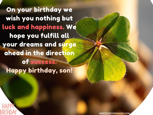 If You Feel Like Its Impossible To Think Of A Nice Cute Birthday Greeting For Son We Are Here Give Helping Hand