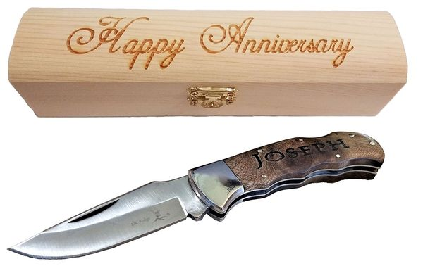 Brass Boncho Engraved Knife