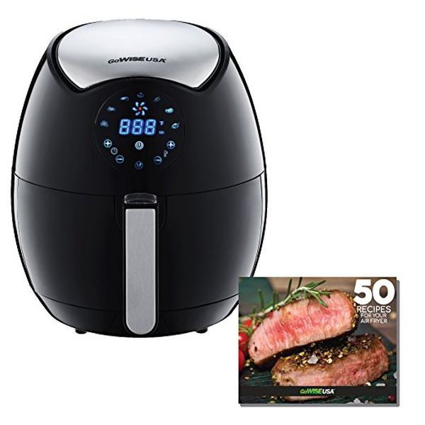 GoWISE USA 3.7-Quart 7-in-1 Programmable Air Fryer + 50 Recipes for your Air Fryer Book