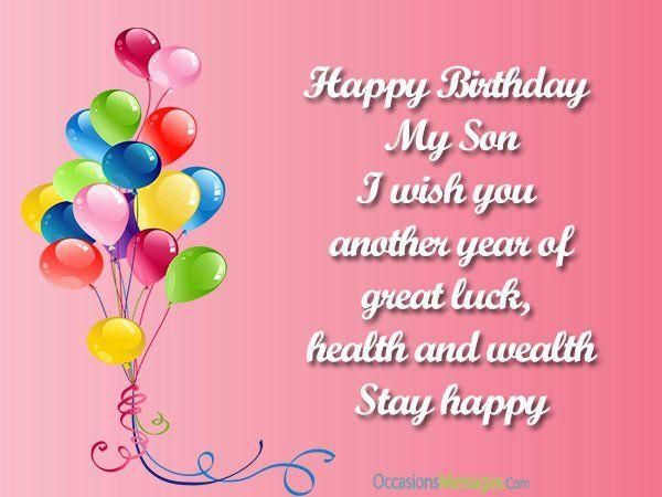Happy birthday son quotes wishes for son on his bday birthdays and cheerful birthday images are inseparable dont be the only one without a nice colorful birthday card on your sons birthday m4hsunfo