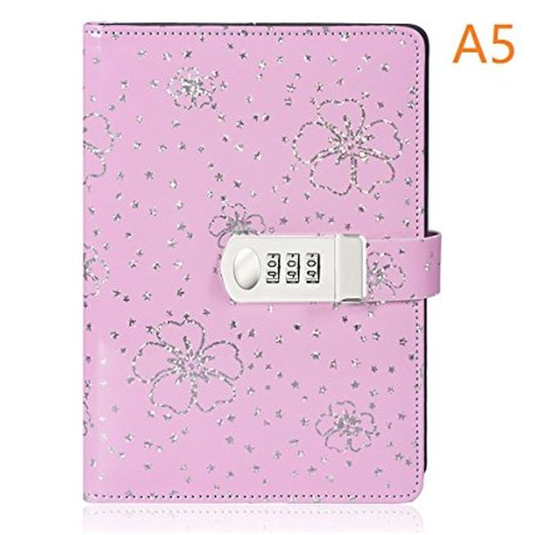 Floral Notebook Journal with Lock
