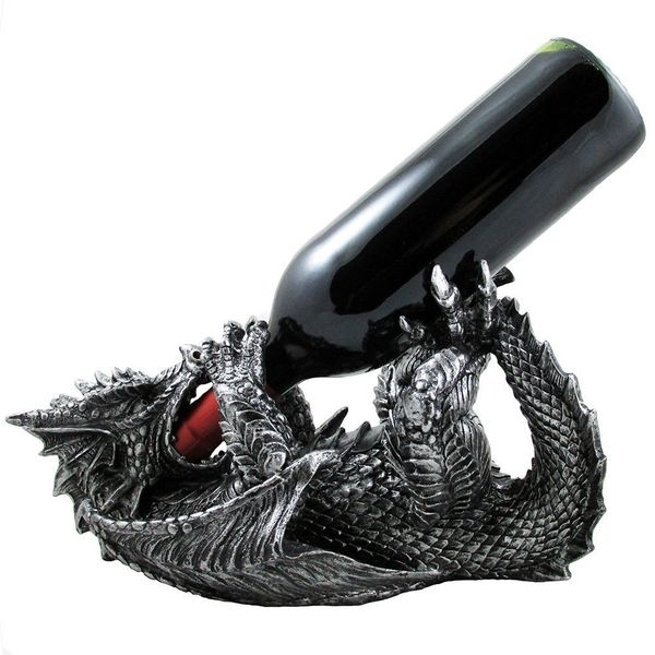 Mythical Dragon Wine Bottle Holder Statue
