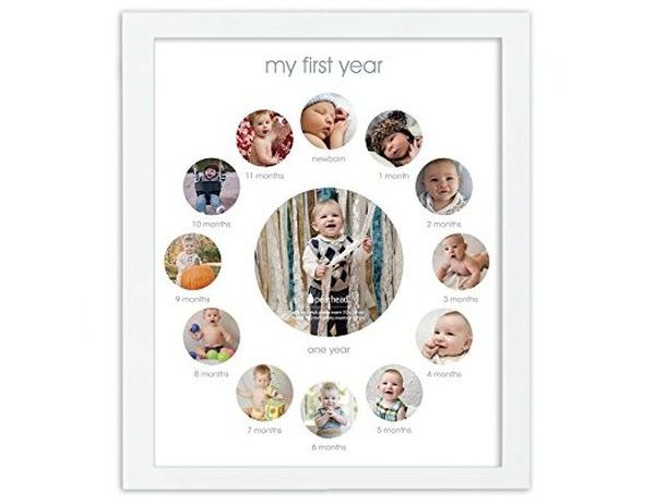 Pearhead My First Year Monthly Photo Baby Keepsake Frame
