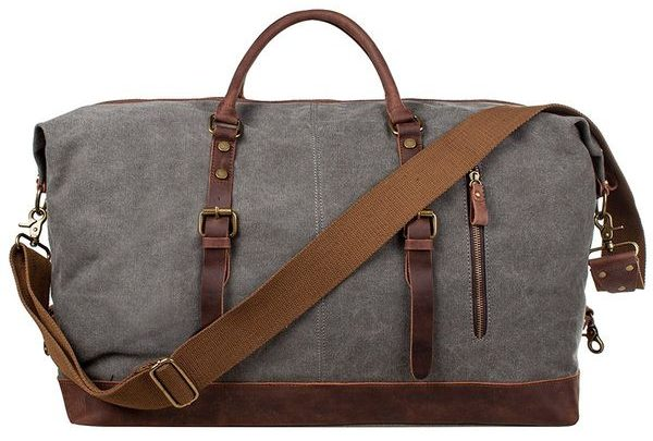 SZone Canvas Leather Weekend Bag