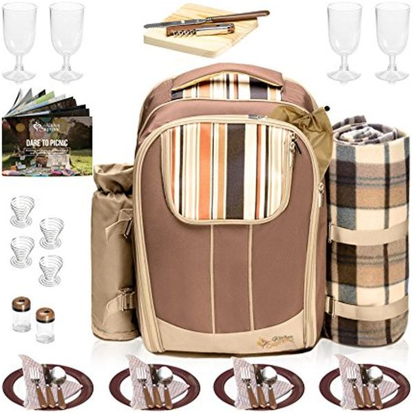 Stylish All-in-One Portable Picnic Bag