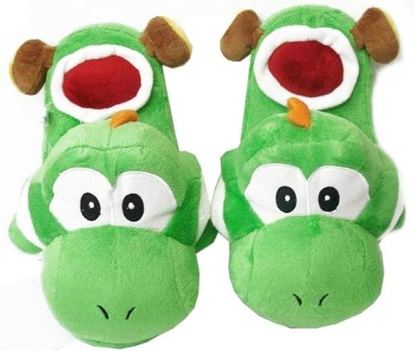 Super Mario Brothers Yoshi Slippers Green