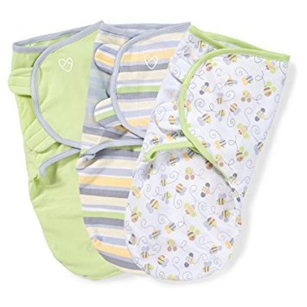 SwaddleMe Original Swaddle 3PK Busy Bees SM