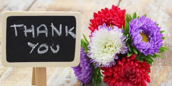 Colorful Thank You Images with Flowers