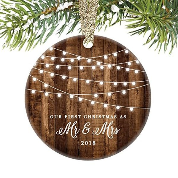 First Christmas as Mr Mrs. Ornament
