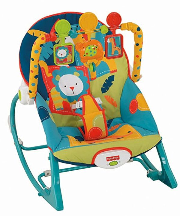 FisherPrice InfanttoToddler Rocker Dark Safari