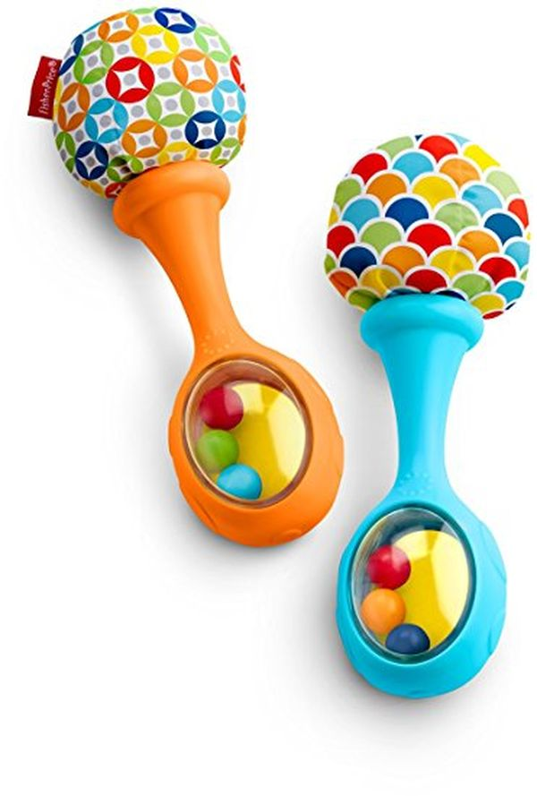 FisherPrice Rattle n Rock Maracas BlueOrange