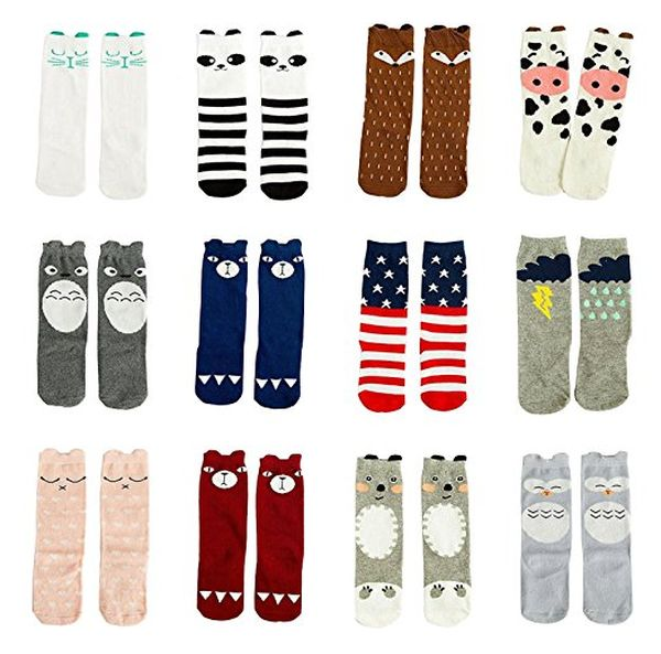 Gellwhu Knee High Socks (12 Pairs)